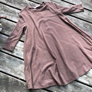 Brown Ribbed Stretchy Project Social T Swing Tunic
